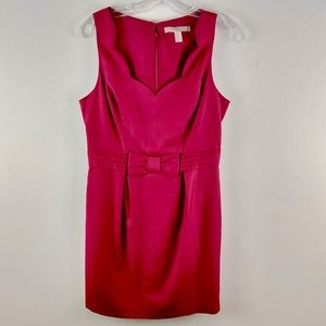 Forever 21 Scalloped Neckline Bow Dress Medium M